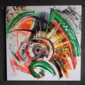 Acrylfarben auf Leinwand 80 x 80 (Gonzo V.)