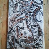 Abstrakte Kunst 80 x 120 (Gonzo V.)