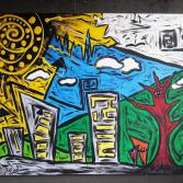 Abstrakte Kunst 90 x 120 (Gonzo V.)