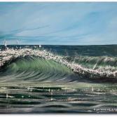 Acrylbild Wellenreiten