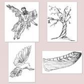 Illustrationen-Reihe-Weisheit-III-9-12