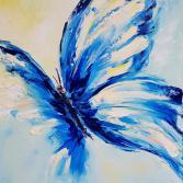 Blau Schmetterling