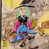 Miesgelaunte Hexe Henriette