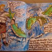 Wasserski fahrender Schotte