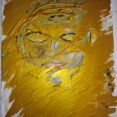 Buddha hinter Gold