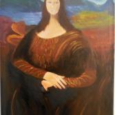 Mona Lisa in Acryl