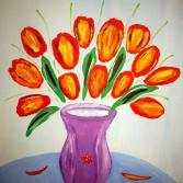 Tulpen mit Vase