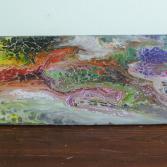 Abstraktes Acrylbild 40x140 (Gonzo V.)