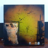 Abstraktes Acrylbild 55x55 (Gonzo V.)