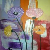 Abstraktes Blumenbild
